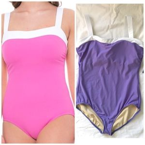 Miraclesuit NWT Square-neck Purple Swimsuit